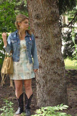 cynthia rowley dress - roberto cavalli purse