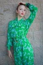 sky blue butterfly print vintage from Ebay dress