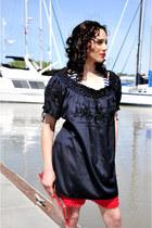 tunic vintage find dress - vintage find shorts