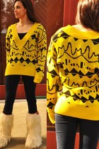 art deco print vintage from Ebay sweater