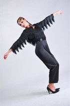 black fringe vintage from Ebay romper
