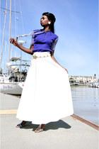 long polyester vintage find skirt - vintage find belt