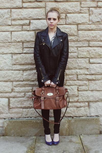 Zara jacket - Jack Willis jeans - Ebay bag - Primark top