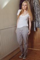 Converse shoes - Forever 21 t-shirt - Gap pants