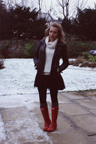 Hunter boots - Zara jacket - Primark jumper