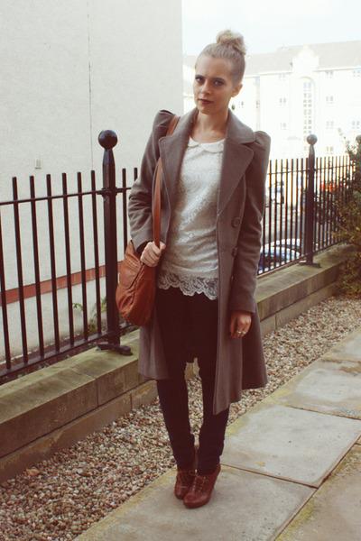 Dorothy Perkins top - H&M shoes - warehouse coat