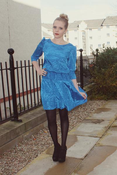 vintage dress - Steve Madden heels