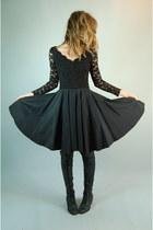 black All That Jazz dress - black Jeffery Campbell boots - Crossroads Trading Co