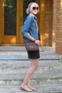 Blue-denim-jacket-levis-jacket-crimson-crossbody-bag-etienne-aigner-bag
