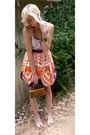 Orange-grandmothers-skirt-white-forever-21-top-white-shoes-brown-moms-bag-