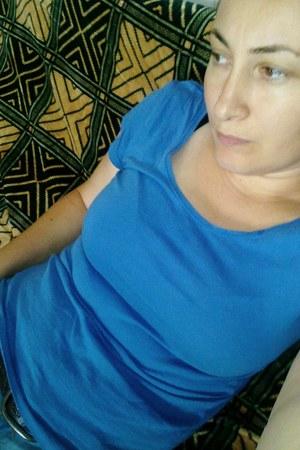 blue Bershka jeans - blue Bershka blouse
