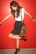 skirt - shoes - shirt