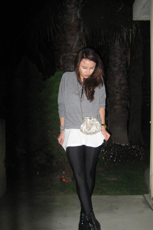 sweater - tights - shirt - purse