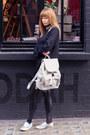 Topshop-bag-misbehave-blouse-primark-pants-asos-flats