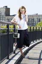 Zara shirt - asos bag - Topshop pants