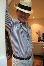 ivory bamboo hat no brand hat