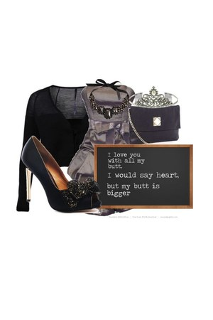 strapless dress - jewelled clutch Michael Kors bag - wool Sara Lanzi cardigan -
