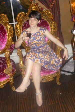 floral dress Louche dress - nude heels Primark heels