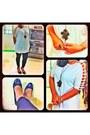 Leggings-ring-blouse-necklace-pumps