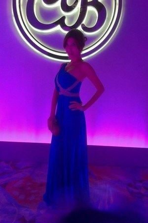 blue BCBG dress