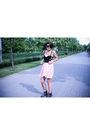 Black-topshop-bra-pink-dress-black-boots