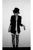 souvenir shop hat - made by me blazer - top - Topshop shoes - my friends necklac