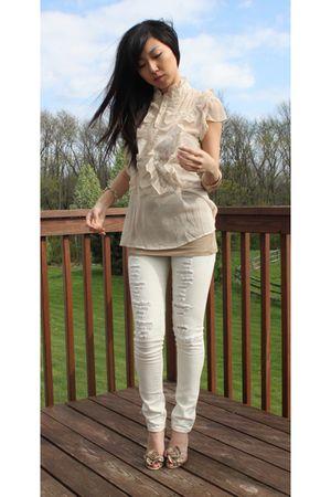 beige Blank jeans