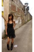 H&M dress - Laredo boots - vintage purse
