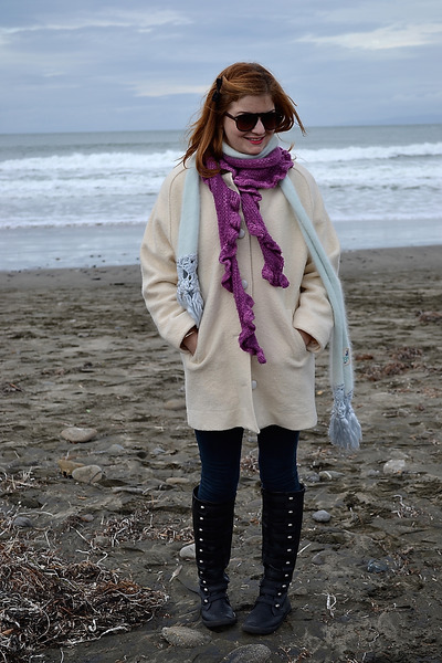 vintage coat - Blowfish boots