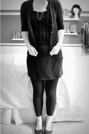black cardigan Target cardigan - black basic Target skirt