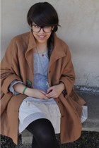 wool H&M cape - Louis Vuitton bag - tulle Zara skirt - cotton H&M t-shirt