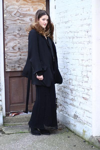 black ann demeulemeester boots - black laddered knit Topshop dress
