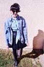 Leather-skirt-skirt