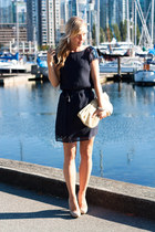 Club Monaco dress - Anthropologie purse - Nine West pumps
