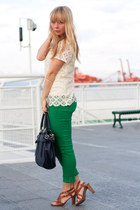 AG jeans - franco sarto shoes - Anthropologie bag - Anthropologie blouse