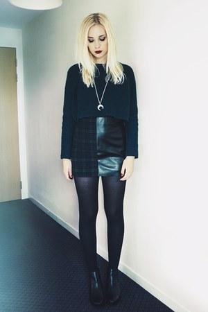 Topshop jumper - leather tartan Topshop skirt