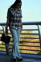 Diesel jeans - Diesel bag - Paul and Joe blouse - Mango heels