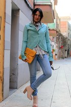 aquamarine Patrizia Pepe blazer - peach leather asos boots