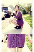 lace hi-low FP dress - Deeny & Ozzy wedges