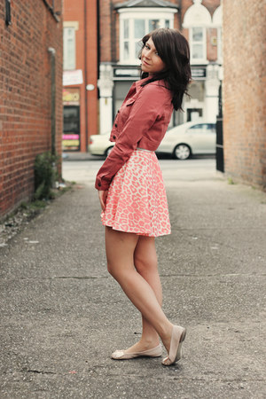 neutral Republic dress - coral Republic jacket - neutral next flats