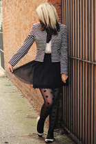 black Primark blazer - white Dorothy Perkins blouse - black OASAP skirt