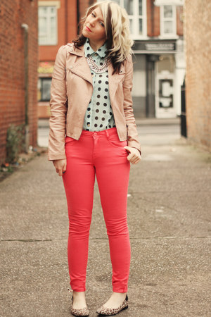 coral Matalan jeans - peach Miss Selfridge jacket