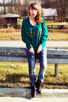 green Selected sweatshirt