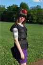 Purple-vintage-skirt-white-vintage-t-shirt-black-target-top-black-vintage-
