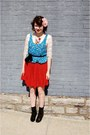 Ivory-charlotte-russe-shirt-blue-forever-21-shirt-red-neiman-marcus-skirt