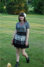 Gray-forever-21-skirt-gray-jacobs-by-marc-jacobs-t-shirt-pink-vintage-neckla