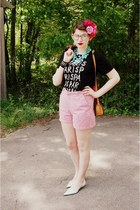 vintage purse - gingham Vintage Lee shorts - Jacobs by Marc Jacobs t-shirt - Bor