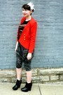 Black-zoe-sam-edelman-boots-red-goodwill-vintage-blazer-black-vintage-custo-