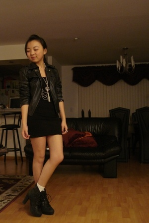 bandage skirt - Moto Jacket