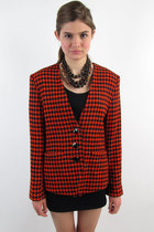 carrot orange Oleg  Cassini blazer